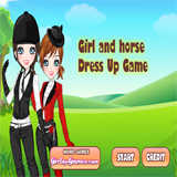 Girl And Horse Dress Up